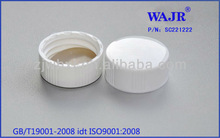 white plastic screw caps