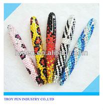 Glaring crystal metal pen for promotion,gift diamond pen