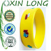 1 inch embossed silicone bracelet on wholesale