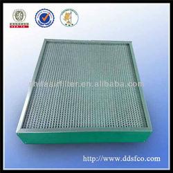 Rigid deep-pleated gas turbine box filter
