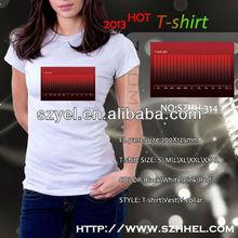 %100 cotton Kids/men/ladies Custom 3d Animation electronic Equalizer el lighting sensitive t-shirt whlesale alibaba online
