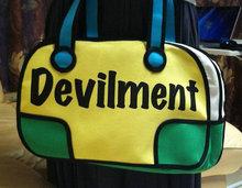 Charming laptop bags for teenage girls,alphabet 3D bag