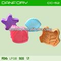 Sapo/shell/concha/sea star 4 pcs 3d cortador plástico cookie