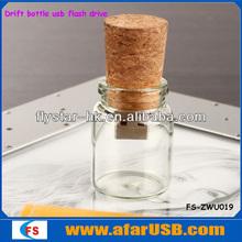 2013 New design 32GB Cute drift bottle usb flash drive