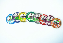 14g 3color clay WPT injection poker chip with sticker