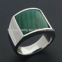 stainless steel jade mens ring factory