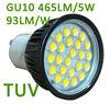 SMD2835 GU10 LED Spotlight 5W CRI>80 PF>0.9 AC220-240V 3000k-6500k