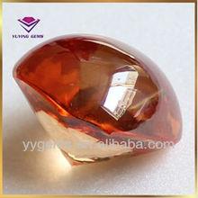 champagne square cabochon cz gemstone