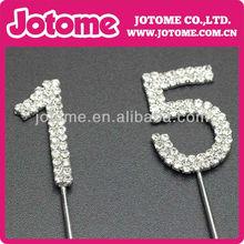 wedding party number rhinestone cake topper for wedding cake decoration wedding accessory