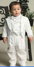 2014 nuova moda bianco cinque pezzi ragazzi battesimo abiti
