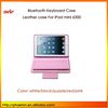 PU leather case with bluetooth keyboard for ipad mini, leather case with keyboard for Ipad mini