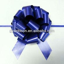 Kraliyet mor metalik yılbaşı şerit çekme yay dekorasyon hediye için veya ambalaj hediye/sepeti