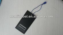new fashion high quality clothing embossed logo hang tag swing tag