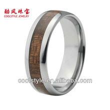 Koa wood inlay tungsten ring wood tungsten ring real wood tungsten ring