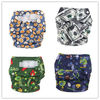 2014 New PUL Washable Sleepy Baby Diapers with Double Snaps Printed Design