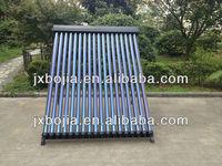 Direct flow vacuum tube solar collectors