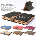 Buckle Suede Leather Smart Flip Case Cover for The New iPad 4 & 3 2 + Sleep Wake