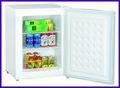 Mini congelador / contador de topo freezer com Flack voltar e pés ajustáveis