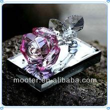 Crystal Rose Wedding Gift Perfume Bottle For Friends Souvenir