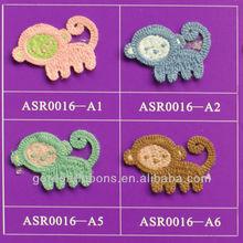 Monkey design Crochet Flower