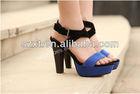 High heel fashion sandal 2013 high heel sandal shoes woman royal blue high heels