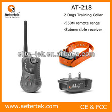 Aetertek AT-218 2 dogs rechargeable vibrating dog training collar