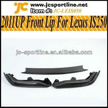 2011UP IS250 Bumper Carbon Fiber Front Lip for LEXUS IS250 3PCS