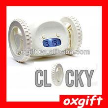 OXGIFT Clocky Robotic Alarm,Running Desktop Clock,Digital Clock