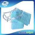 Plástico dentales baberos rollo dental babero delantal rollo para para blanquear los dientes