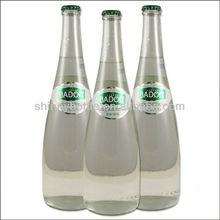 brand names of water bottles, glass transparent mineral water bottles, custom made high-end drink bottles