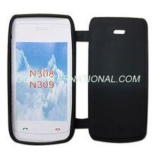 Mobile Phone TPU Flip Cover for Nokia N308/N309 Flip Case