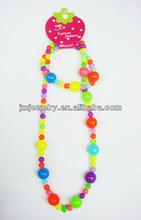 2015 New Sweety candy beaded necklace set for kids design