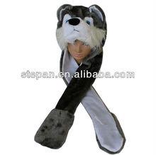 TZ-M153 Funny animal pattern fleece husky hat