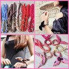 2013 Hot Sale Bow Bracelet Festival Fabric Wristbands Hair Bows Wholesale