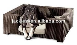 B06 wicker cat dog bed