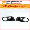 For BMW E46 M3 carbon fiber foglamp cover