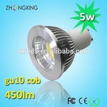 CE/RoHS 100-250V Dimmable GU10 COB 5W LED Spotlight