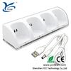 Wholesale! for WII controller charger 4 in 1 charge station