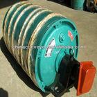 Electric motor pulley for belt conveyor system