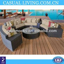Miami New Modern Outdoor Wicker Patio 7 Piece Furniture Set Sand - Free Shipping