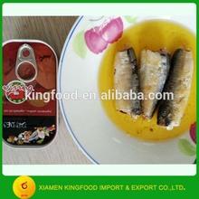 Supply bulk sardine cans in oil 125G