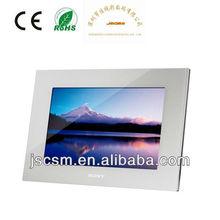 Shenzhen mejor fabricante! Barato marco de la foto 17 '' pulgadas marco de fotos de plata con HD resolución, Buena brillo