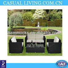 Outdoor Patio 4 Pc Wicker Rattan Sofa Sectional Garden Furniture Set