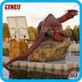 fatto a mano rosso resina statua del drago