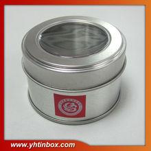 window metal candle tin