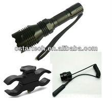 SG-L01 cree Q5 rechargeable long shot led flashlight green/red light