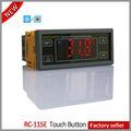Led táctil botón de microcomputadora controlador de temperatura de refrigeración del gabinete de exhibición y la espalda rc-115e bar