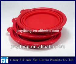 2013 hot sale Foldable Silicone Travel Dog Bowls