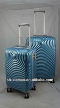 PC Film Telescoping handle zipple luggage set for traveling