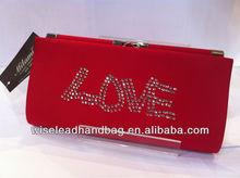 EVENING LOVE RED BLING RHINESTONE HANDBAG